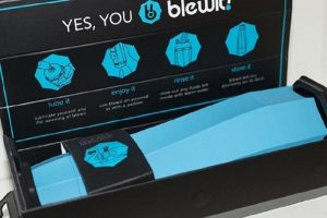 here's the product package of the blewit! You can see the nicely designed device in its black box with simple instuctions on how to use it