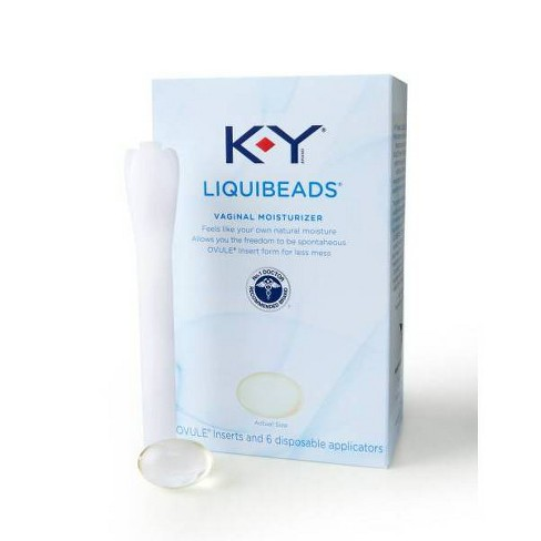 KY Liquibeads applicator and its packaging can be seen here.